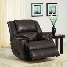 Faux Leather Recliner Dorel Home Ashford Padded Rocker Recliner Brown Faux Leather