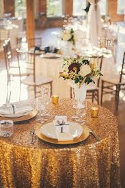 sweetheart table decor gold sequined linen sweetheart table decor