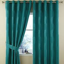 Peacock Curtains Teal Peacock Feather Ring Top Curtains The Mill Shop