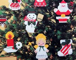 vintage plastic canvas ornaments etsy