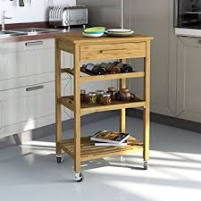 Kitchen Island Drawers Rolling Bamboo Kitchen Island Storage Bakers Cart