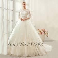 Pink Wedding Dresses With Sleeves Gelinlik Ivory Vintage Wedding Dresses Long Sleeve Lace Wedding