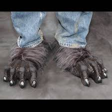 halloween costumes werewolf werewolf deluxe costume feet grey mostlydead com
