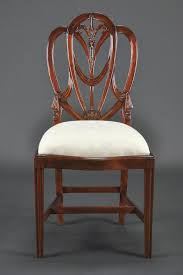 dining room dining chair in vintage theme made of leather and