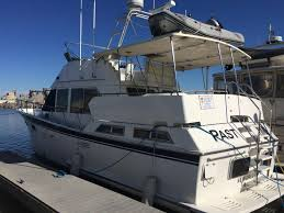 1987 overseas yacht pt 46 sundeck power boat for sale www