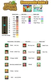 acnl hair color guide shoodle guide hair color animal crossing pinterest qr codes