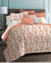 Modern Bedding Sets Queen Bedroom Great Coral Bedding Sets With Square Pillow On Wooden Bed