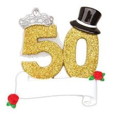 50th wedding anniversary ornament store