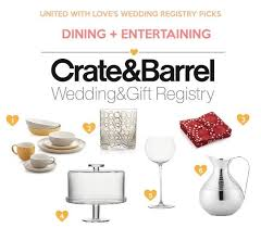 wedding registeries wedding registry ideas from crate barrel united with