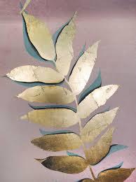 luxury metallic gold leaf wallpaper