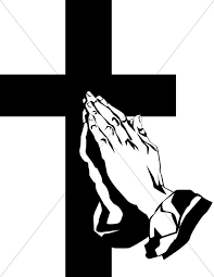 praying and the cross prayer clipart