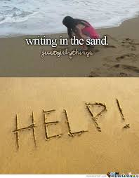 Sand Meme - writing in the sand by moguai meme center