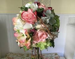 Shabby Chic Flower Arrangement by Silk Flower Arrangement Topiary Tree Flower Topiary