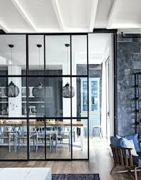 fascinating gorgeous floor to ceiling glass divider between