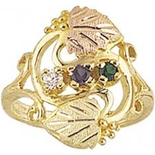 mothers ring 6 stones black gold s ring 6 stones g901 jewelry black