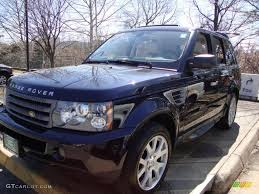 nissan range rover 2007 buckingham blue metallic land rover range rover sport hse
