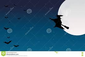 silhouette of halloween witch and bat stock vector image 72972345