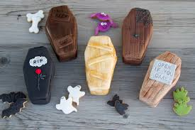 Mini Halloween Ornaments by Img 7990 Coffin With Lid Wooden Look Halloween Decoration Fast