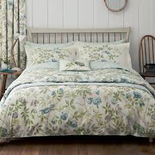 sanderson abbeville bed linen set duck egg bradbeers