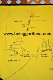 Smithsonian Map Belize A K A British Honduras Being Garifuna