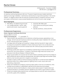 Resume Samples For Accounting by Professional Master Electrician Templates To Showcase Your Talent