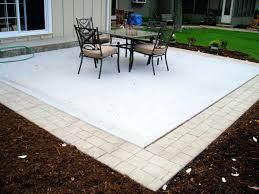 patio ideas cement backyard backyard stamped concrete patio