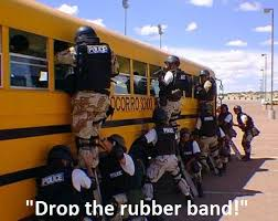 School Bus Meme - swat responds to person carrying a weapon on a school bus meme guy