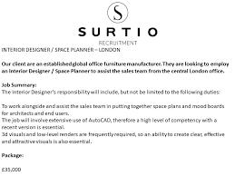Vacancy For Interior Designer Surtio Surtio Twitter
