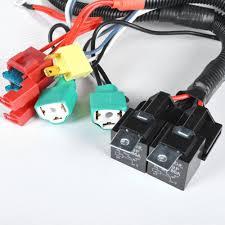 amazon com dual high low beam headlight relay wiring harness h4
