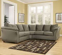 cosy sage colored sectional sofa on interior designing home ideas