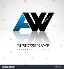 Business Letter Logo by Aw Company Linked Letter Logo Icon Stock Vector 404593735