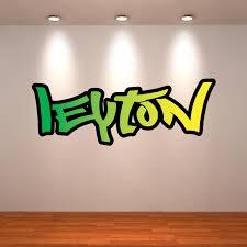 20 top graffiti wall art stickers wall art ideas personalised wall decal graffiti name wall art sticker pertaining to graffiti wall art stickers image
