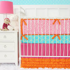 Orange Crib Bedding Kate S Key Tutu Petti Crib Skirt Baby Bedding In Pink And Orange