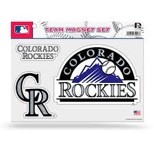 glitter car colorado rockies glitter car magnet sheet mlbshop com