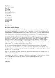 A Good Cover Letter Sample Cover Letter For Interior Designer Gallery Cover Letter Ideas