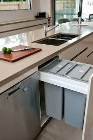 modern kitchen bins cabinets u0026 storages black plastic pull out trash bin rustic wood