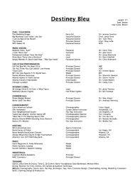 Dancer Resume Layout Promotional Resume Sample