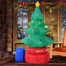 how many lights for a 7ft tree homcom 7ft inflatable christmas tree w 6 led lights aosom ca