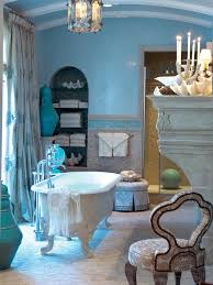 Navy Blue And White Bathroom by Attractive Navy Blue Decor With White Bathub Freestandung On Large