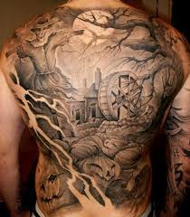 20 evil tattoos on back
