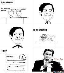 Le Me Memes - le me cheating on exam by megusta1999156 meme center