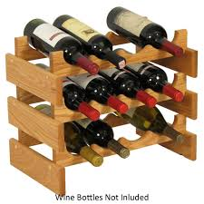 wooden mallet solid oak dakota wine racks abc office