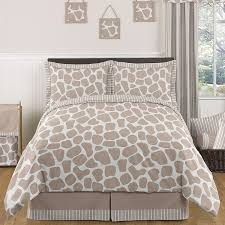 sweet jojo designs giraffe neutral full queen 3 piece comforter