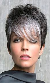 short hairstyles for gray hair fade haircut
