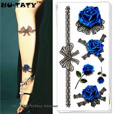 tattoo home decor online get cheap blue rose tattoo aliexpress com alibaba group