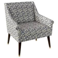 Grey And White Accent Chair Accent Chairs Living Room Furniture One