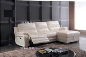 china white color recliner seat and chaise lounge with storage