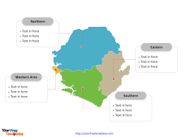 Map Of Sierra Leone Free Sierra Leone Editable Map Free Powerpoint Templates