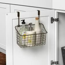 Cabinet Door Basket Spectrum Diversified Towel Bar And Basket Cabinet Door Organizer