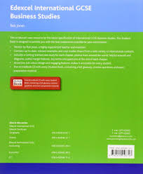 edexcel international gcse business studies student book with